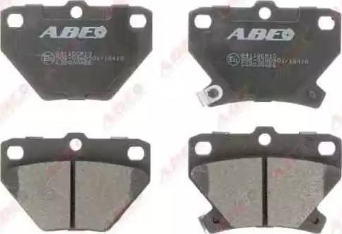 ABE C22020ABE - Kit de plaquettes de frein, frein à disque www.widencarpieces.com