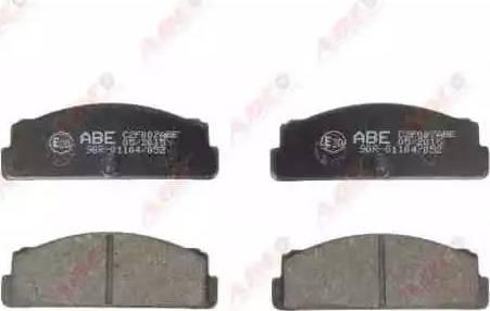 ABE C2F007ABE - Kit de plaquettes de frein, frein à disque www.widencarpieces.com