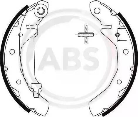 A.B.S. 9061 - Jeu de freins, freins à tambour www.widencarpieces.com