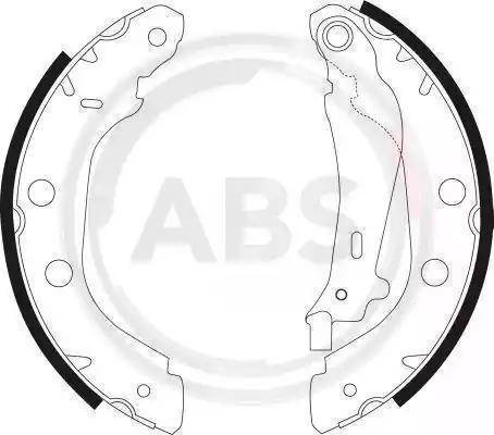 A.B.S. 9030 - Jeu de freins, freins à tambour www.widencarpieces.com