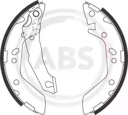 A.B.S. 9148 - Jeu de freins, freins à tambour www.widencarpieces.com
