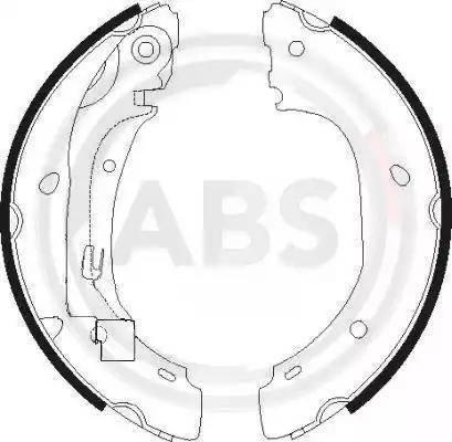 A.B.S. 9150 - Jeu de freins, freins à tambour www.widencarpieces.com
