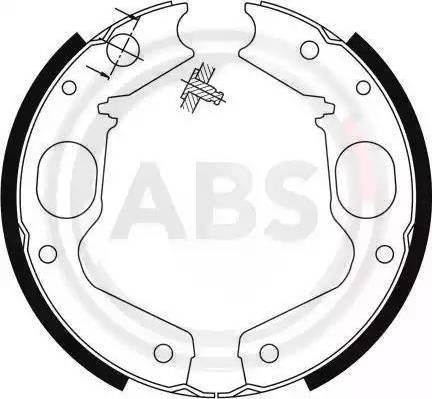 A.B.S. 9115 - Jeu de mâchoires de frein, frein de stationnement www.widencarpieces.com