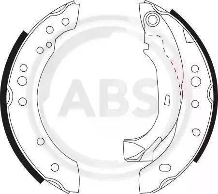 A.B.S. 9127 - Jeu de freins, freins à tambour www.widencarpieces.com