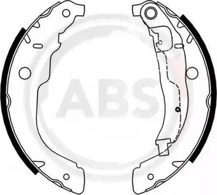 A.B.S. 9226 - Jeu de freins, freins à tambour www.widencarpieces.com