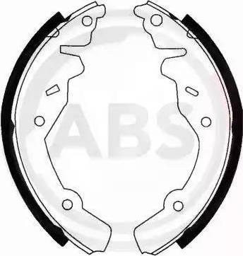 A.B.S. 40520 - Jeu de freins, freins à tambour www.widencarpieces.com