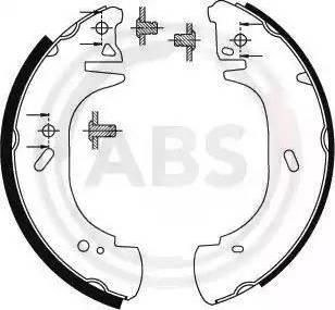 A.B.S. 8941 - Jeu de freins, freins à tambour www.widencarpieces.com