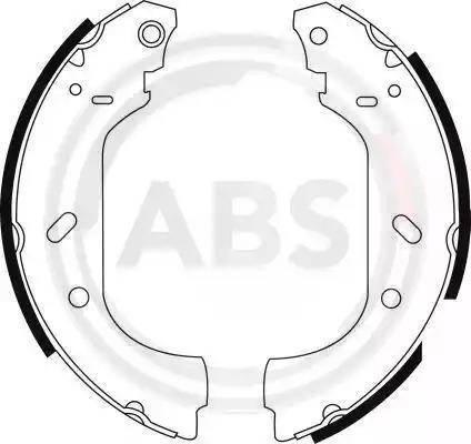 A.B.S. 8943 - Jeu de freins, freins à tambour www.widencarpieces.com