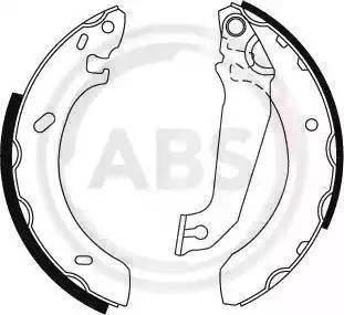 A.B.S. 8919 - Jeu de freins, freins à tambour www.widencarpieces.com