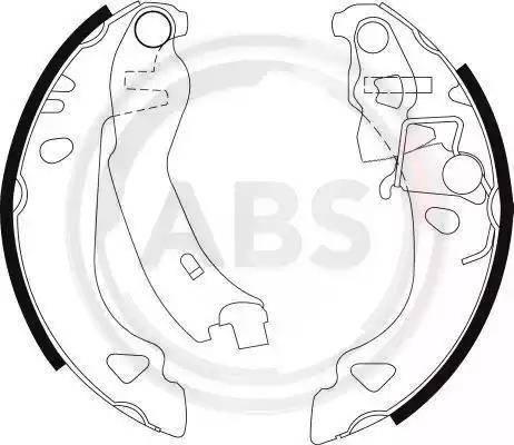 A.B.S. 8939 - Jeu de freins, freins à tambour www.widencarpieces.com