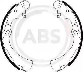 A.B.S. 8848 - Jeu de freins, freins à tambour www.widencarpieces.com