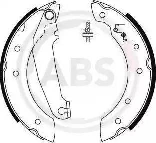 A.B.S. 8854 - Jeu de freins, freins à tambour www.widencarpieces.com