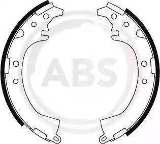A.B.S. 8866 - Jeu de freins, freins à tambour www.widencarpieces.com