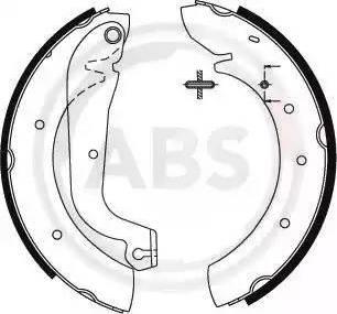 A.B.S. 8860 - Jeu de freins, freins à tambour www.widencarpieces.com