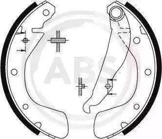 A.B.S. 8884 - Jeu de freins, freins à tambour www.widencarpieces.com
