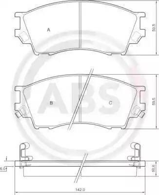 A.B.S. 36929 - Kit de plaquettes de frein, frein à disque www.widencarpieces.com