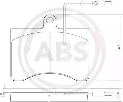 A.B.S. 36456 - Kit de plaquettes de frein, frein à disque www.widencarpieces.com