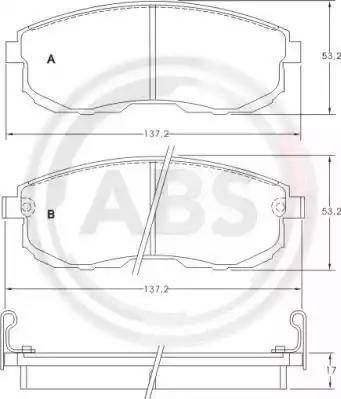 A.B.S. 36691 - Kit de plaquettes de frein, frein à disque www.widencarpieces.com