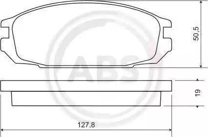 A.B.S. 36693 - Kit de plaquettes de frein, frein à disque www.widencarpieces.com