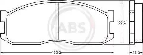 A.B.S. 36642 - Kit de plaquettes de frein, frein à disque www.widencarpieces.com