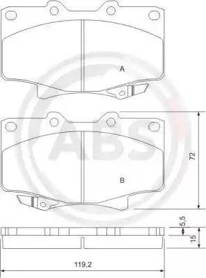 A.B.S. 36882 - Kit de plaquettes de frein, frein à disque www.widencarpieces.com