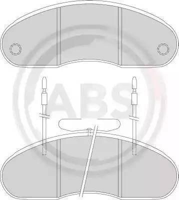 A.B.S. 36877 - Kit de plaquettes de frein, frein à disque www.widencarpieces.com