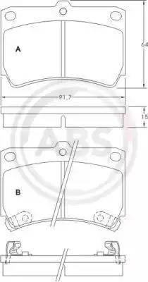 A.B.S. 36726 - Kit de plaquettes de frein, frein à disque www.widencarpieces.com
