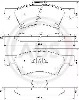 A.B.S. 38857 - Kit de plaquettes de frein, frein à disque www.widencarpieces.com