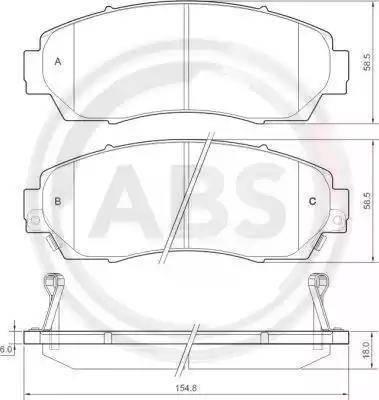 A.B.S. 37627 - Kit de plaquettes de frein, frein à disque www.widencarpieces.com