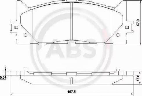 A.B.S. 37677 - Kit de plaquettes de frein, frein à disque www.widencarpieces.com