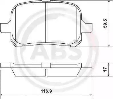 A.B.S. 37033 - Kit de plaquettes de frein, frein à disque www.widencarpieces.com
