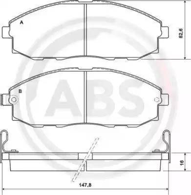A.B.S. 37130 - Kit de plaquettes de frein, frein à disque www.widencarpieces.com