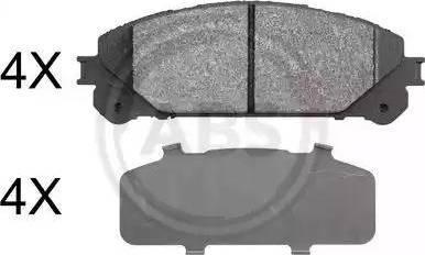 A.B.S. 37844 - Kit de plaquettes de frein, frein à disque www.widencarpieces.com