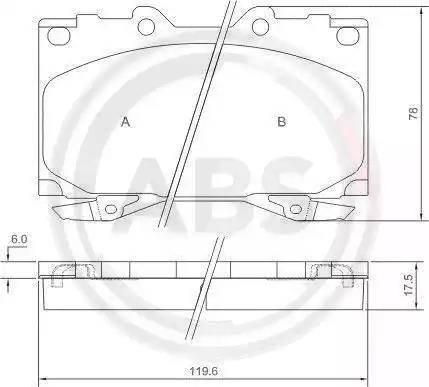 A.B.S. 37231 - Kit de plaquettes de frein, frein à disque www.widencarpieces.com