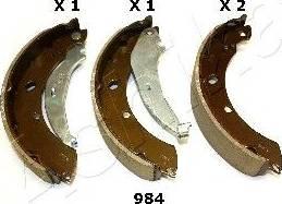 Ashika 55-09-984 - Jeu de freins, freins à tambour www.widencarpieces.com