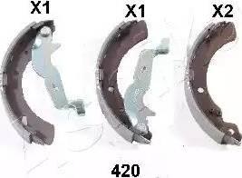Ashika 55-04-420 - Jeu de freins, freins à tambour www.widencarpieces.com