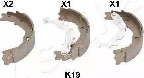 Ashika 55-0K-K19 - Jeu de mâchoires de frein, frein de stationnement www.widencarpieces.com