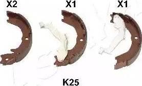 Ashika 55-0K-K25 - Jeu de mâchoires de frein, frein de stationnement www.widencarpieces.com