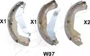 Ashika 55-0W-W07 - Jeu de freins, freins à tambour www.widencarpieces.com