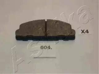 Ashika 5006604 - Kit de plaquettes de frein, frein à disque www.widencarpieces.com