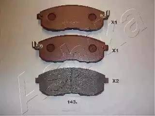 Ashika 50-01-143 - Kit de plaquettes de frein, frein à disque www.widencarpieces.com