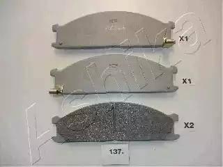 Ashika 50-01-137 - Kit de plaquettes de frein, frein à disque www.widencarpieces.com