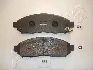 Ashika 50-01-121 - Kit de plaquettes de frein, frein à disque www.widencarpieces.com