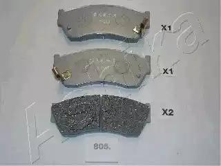 Ashika 50-08-805 - Kit de plaquettes de frein, frein à disque www.widencarpieces.com