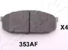 Ashika 50-03-353 - Kit de plaquettes de frein, frein à disque www.widencarpieces.com
