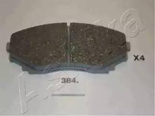 Ashika 50-03-384 - Kit de plaquettes de frein, frein à disque www.widencarpieces.com