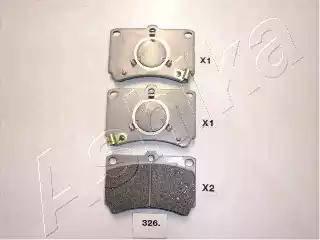 Ashika 50-03-326 - Kit de plaquettes de frein, frein à disque www.widencarpieces.com