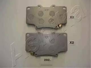 Ashika 50-02-292 - Kit de plaquettes de frein, frein à disque www.widencarpieces.com