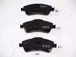 Ashika 50-02-244 - Kit de plaquettes de frein, frein à disque www.widencarpieces.com