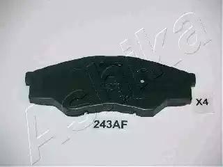 Ashika 50-02-243 - Kit de plaquettes de frein, frein à disque www.widencarpieces.com
